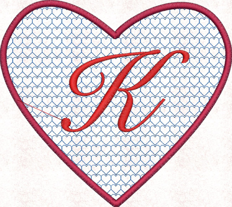 Machine embroidery design, heart frame, frames for monogram, heart ...