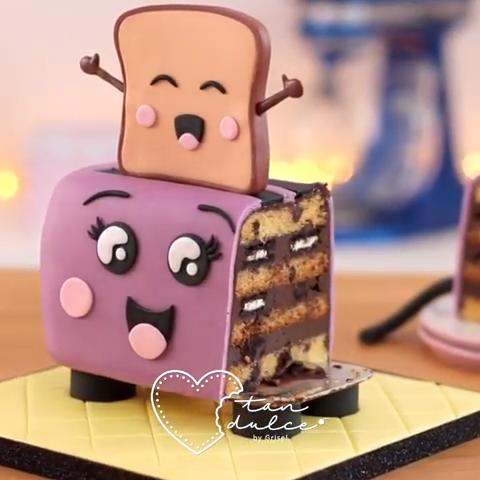 Toaster Cake #starbuckscake