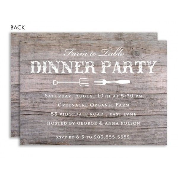 Farm to Table Dinner Party Invitation Rehearsal Invites - fresh invitation wording house party