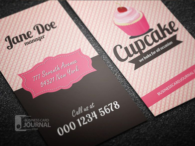 Free retro style cupcake business card template business card journal