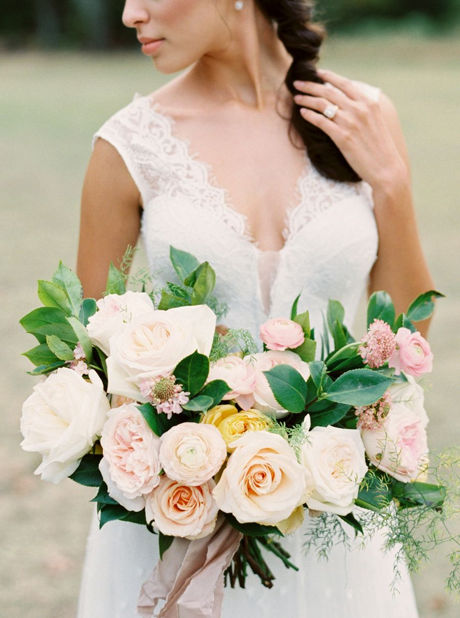 2016 Pantone Inspired Bouquets: http://www.stylemepretty.com/2016/01/07/pantone-2016-rose-quartz-inspired-bouquets/