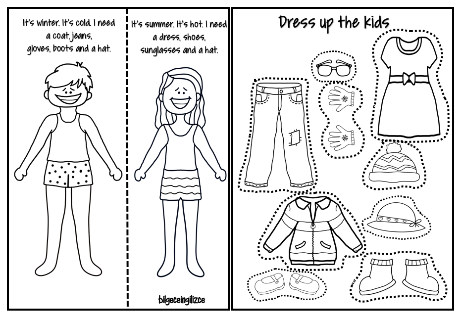 Dress up the kids Esl