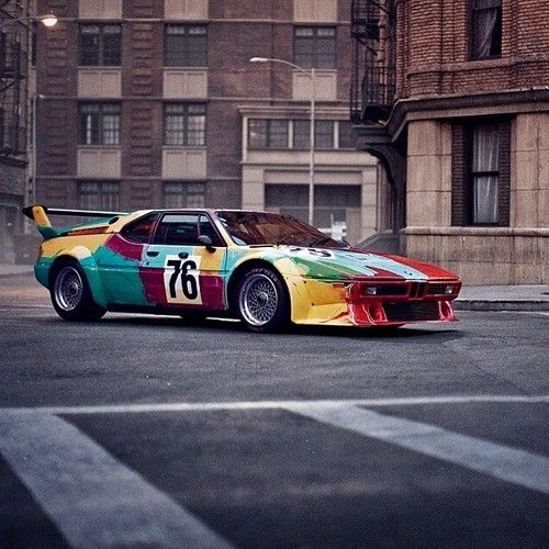 Art Car #warhol #m1 #bmw