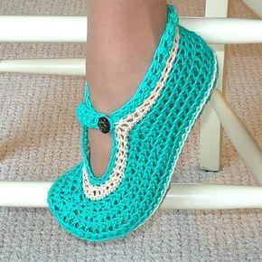 Crocheted Moccasin Slippers - Free Crochet Pattern ...