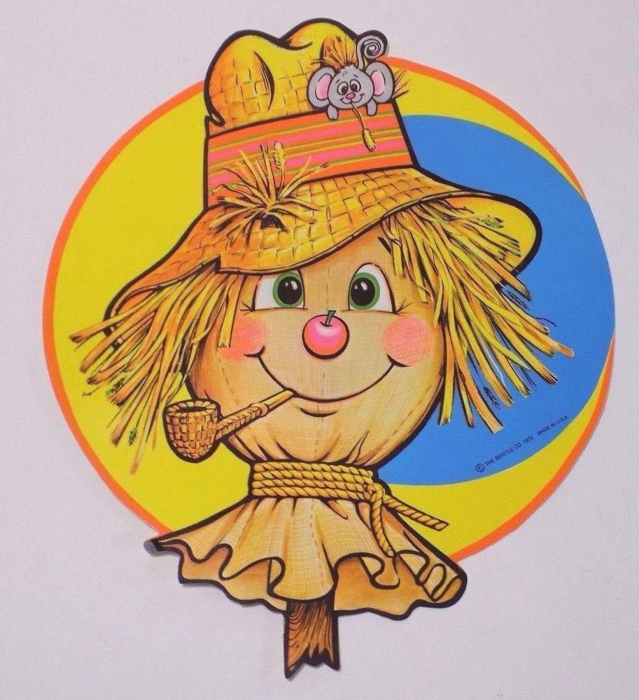 vintage scarecrow beistle halloween decoration die cut poster board 12 - Beistle Halloween Decorations
