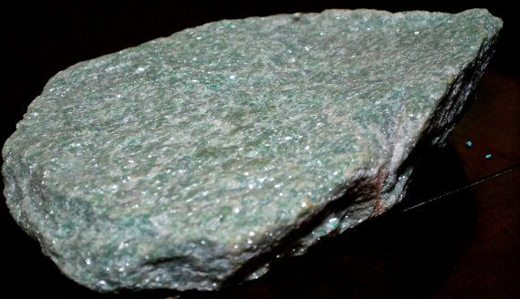 Huge Rough Slab Of Sparkly Green Aventurine From Quebec