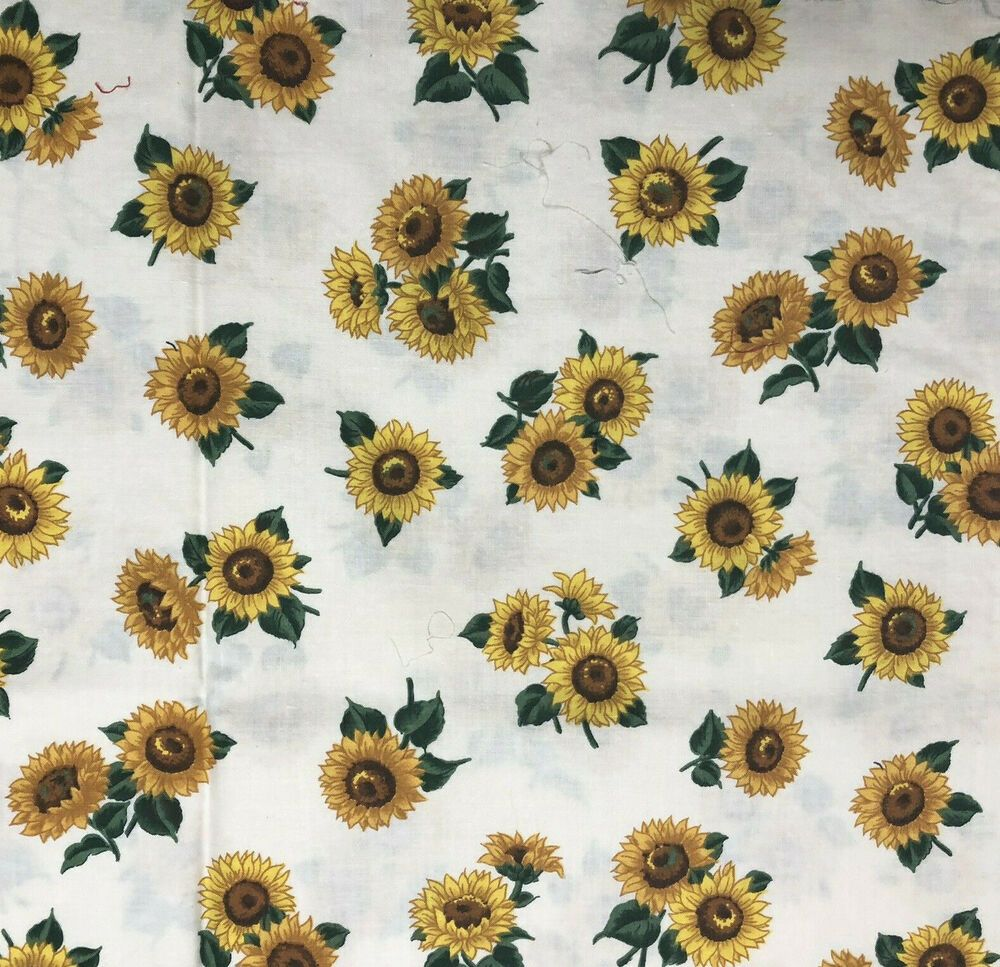 Doll Making panel Sunflower Doll Panel Complete doll fabric panel OOP