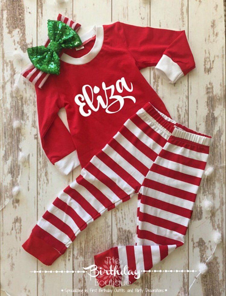 Personalized Christmas Pajamas Kids.Personalized Christmas Pajamas Monogrammed Christmas