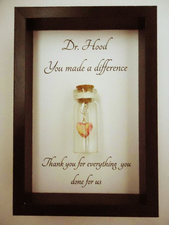 Thank you gift, doctor, nurse, teacher. You made a difference. Can ...