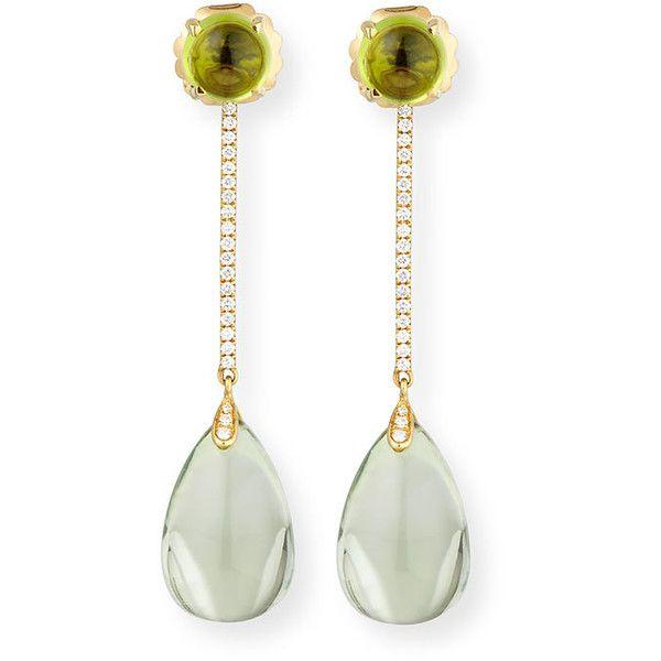 Goshwara Naughty 18K Gold Prasiolite Drop Earrings ATWmiDGif