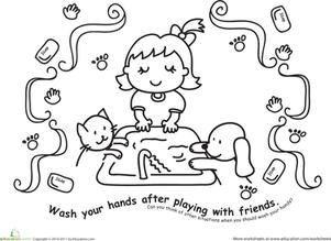 Worksheets Color Activities Coloring Pages Kindergarten Worksheets