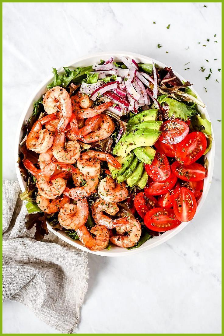 Super frischer Garnelen-Tomaten-Salat #Fitness food menu #Fitness food routine #frischer #GarnelenTo...