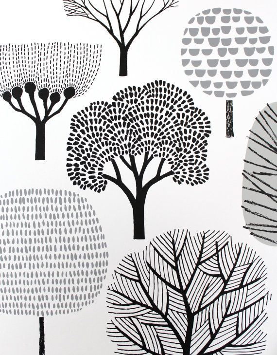 Forest large limited edition hand-pulled screen print