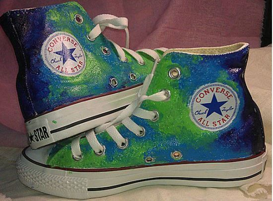 8bc1a680fbecad Galaxy+Converse+shoes+Custom+Converse+Galaxy+by+Kingmaxpaints