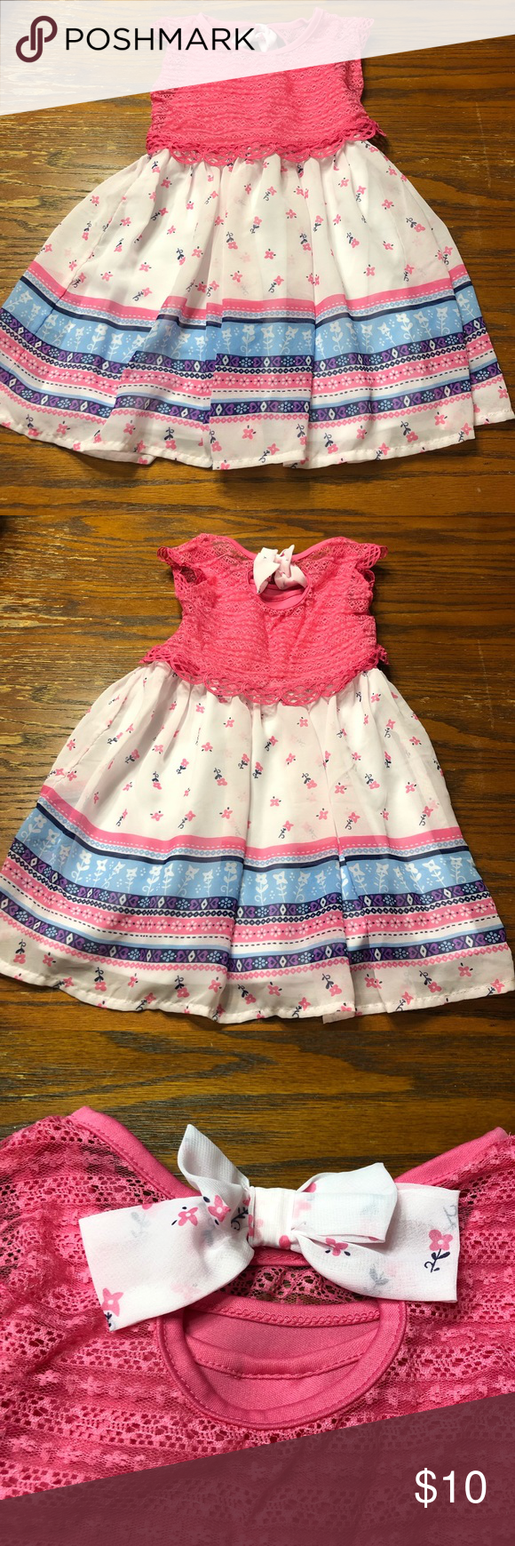 Nannette Pink White Dress Size 4t Brand Nannette Pink And White Dress With Lace Size 4t Great Condition B63 Na Pink And White Dress Dresses Clothes Design [ 1740 x 580 Pixel ]