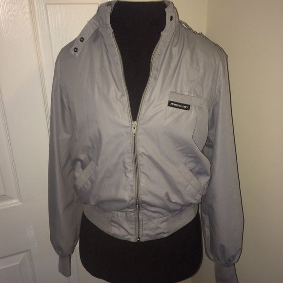 Members Only size 9/10 gray jacket zip up Members Only size 9/10 gray jacket zip up. The inner lining is town at the seams but does not effect wear and can easily be sown up (sorry I don't see or I would ). members only Jackets & Coats