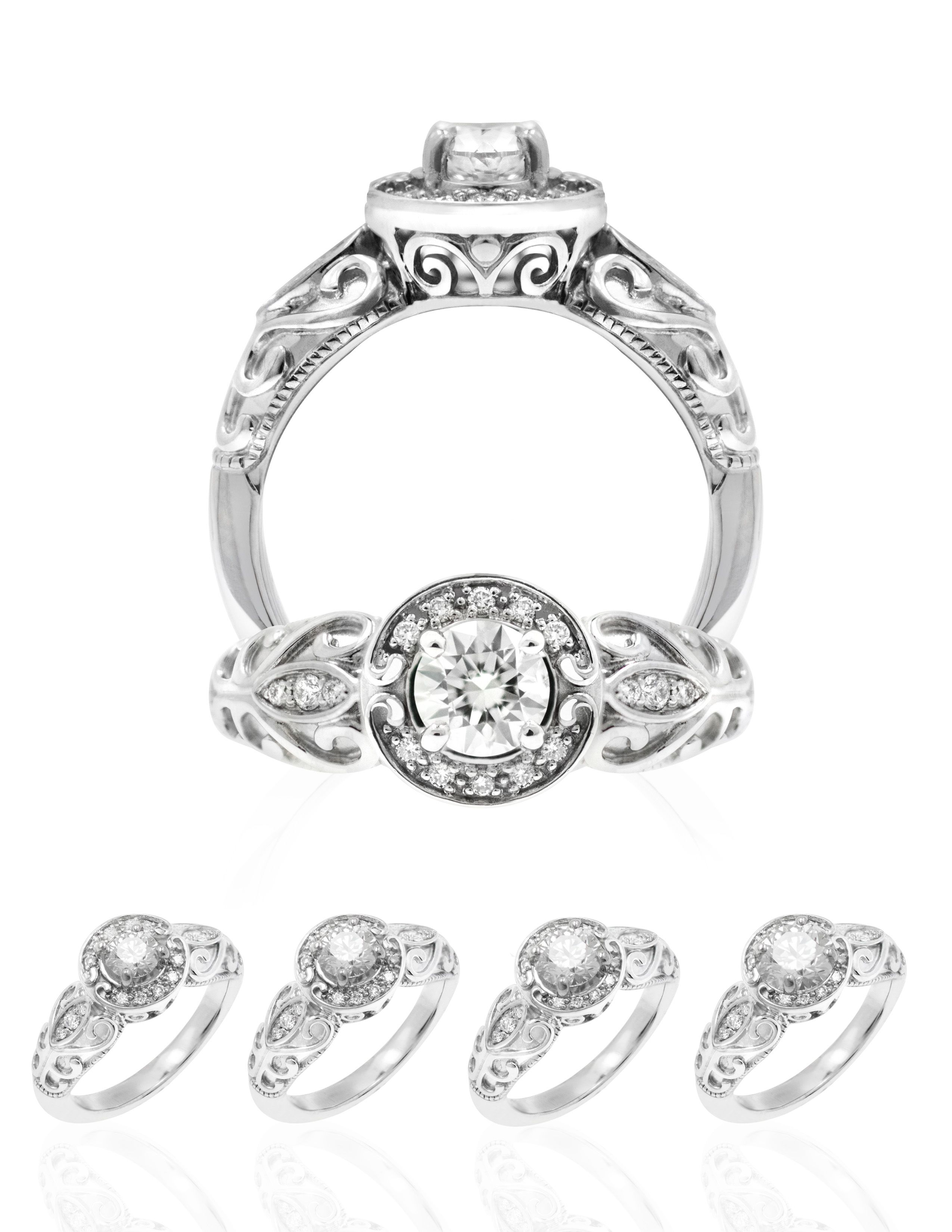 Kapili Lei Hawaiian Wedding Ring Available in white gold or