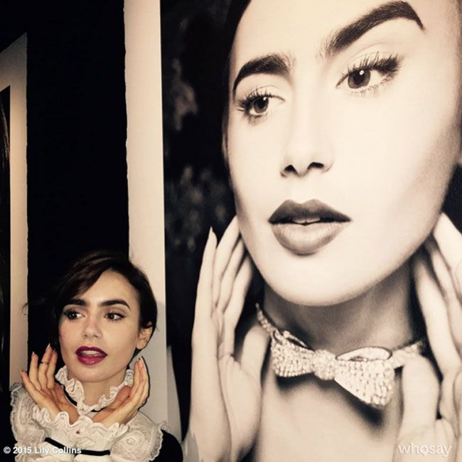 Behind the scenes at the Chanel party with Lily Collins...