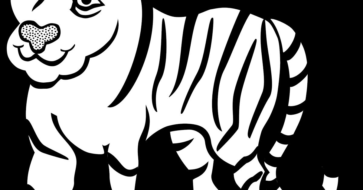 Gambar Animasi Hewan Hitam Putih Outline Of Running Tiger Royalty Vector Clip Art Image Hewan Gambar Mewarnai Kumpulan Gambar Mewar Gambar Animasi Hewan