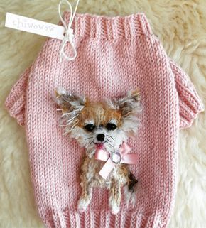 My Chihuahua Selfie Sweater  #pink #chihuahua #handmade #selfie #dogsweater #dog #fashion #style #design #custom #mydesign #knitting #art #yarn #craft #unique #madeunique #dogcouture #chiwowow #yorkie #puppy #teacup #maltese #ilovemydog #pet