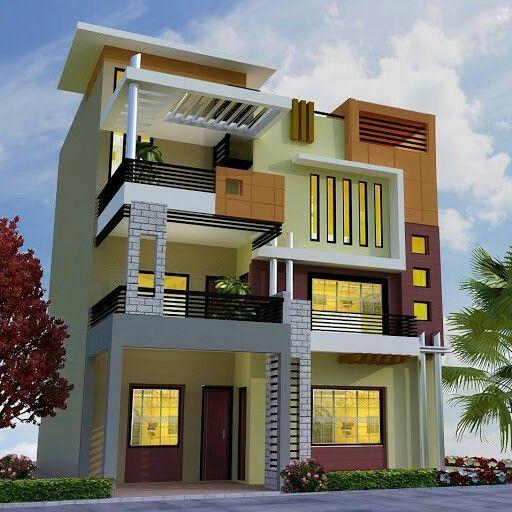 Home elevation house design villa bungalow row bhk bhk bhk ground floor floor also rh pinterest