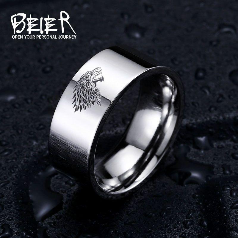 Stainless Steel House Stark Game Of Thrones Ring Stainless Steel Rings Rings For Men Mens Stainless Steel Rings