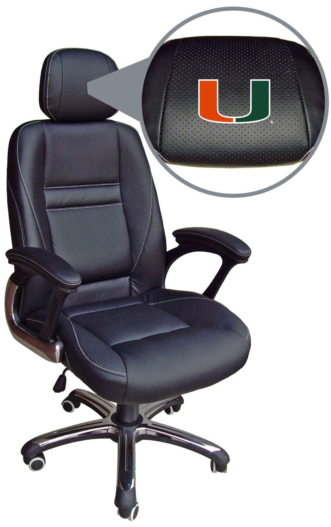Miami Hurricanes Ncaa Head Coach Black Leather Executive