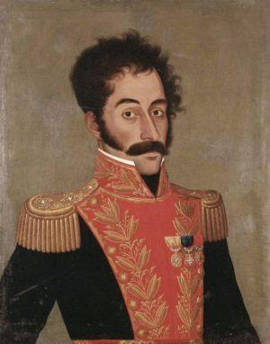 Simón Bolívar por José Gil de Castro, 1928.