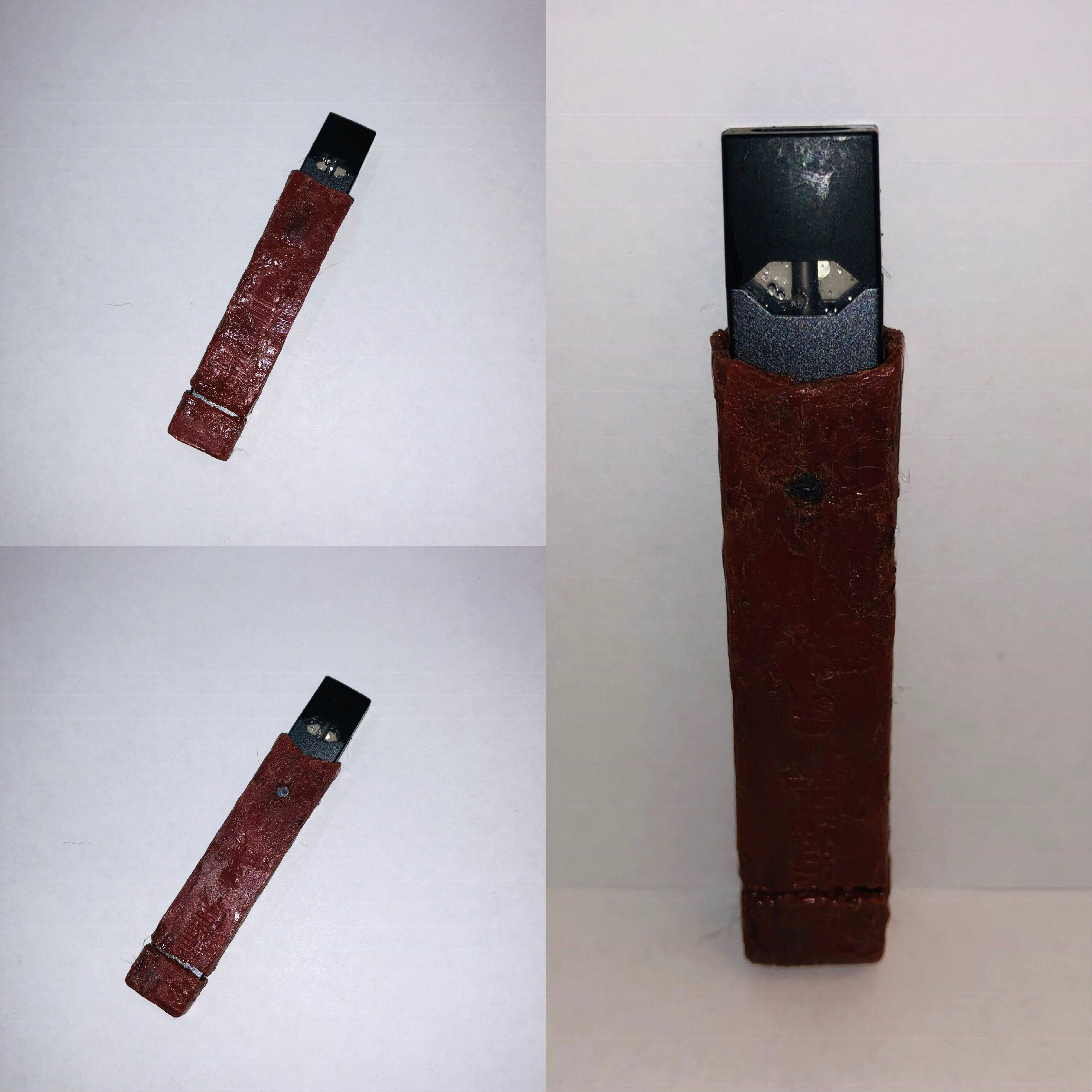 3D Pen Red handmade hardshell Case for Juul with removable