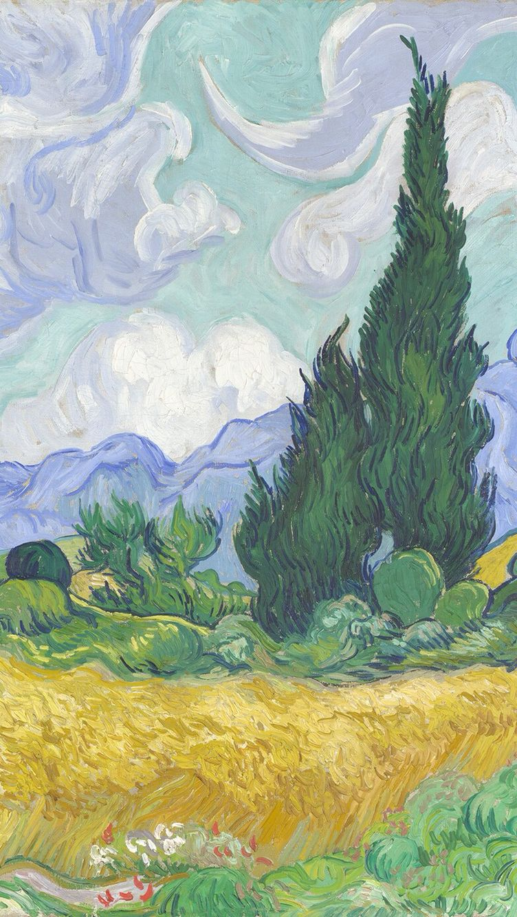Van gogh iphone wallpaper tumblr - Wheat Field With Cypresses By Vincent Van Gogh Download More Van Gogh S Paintings As An