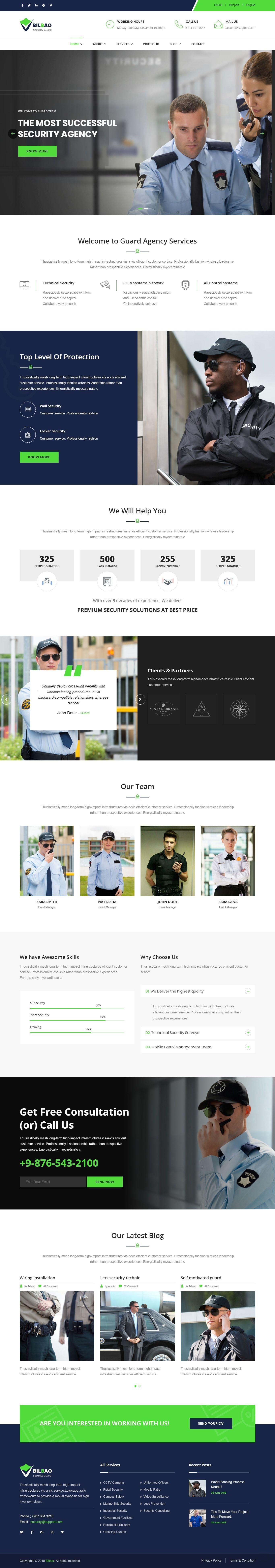 Bilbao Security Services Html Website Template Spycameragadgets Business Web Design Business Website Templates Beautiful Website Templates