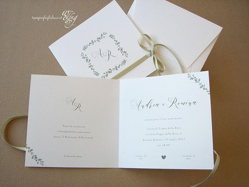 Partecipazioni Matrimonio Romantiche Personalizzate Wedding Design Tipografia Falisca Matrimoni Romantici Partecipazioni Nozze Partecipazione