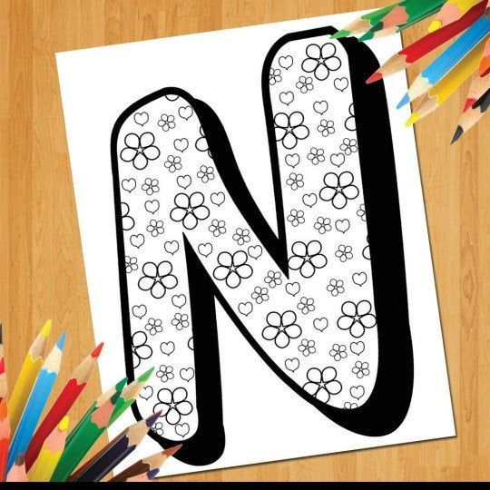 Coloring Alphabet Printable Worksheets For Kids Preschool Etsy Kids Worksheets Printables Coloring Bookmarks Alphabet Coloring Pages