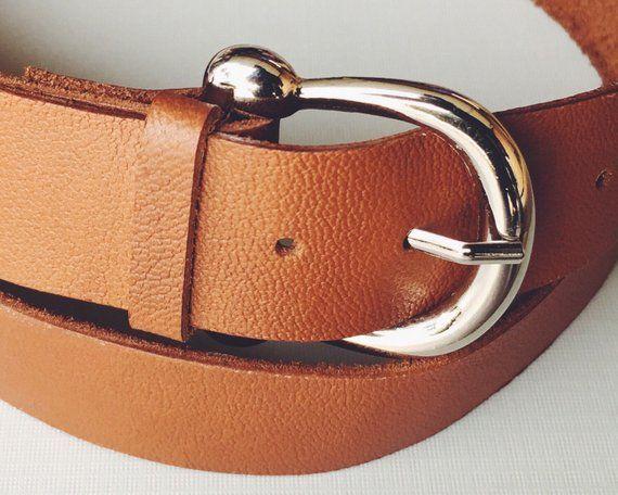 Ceinture en cuir marron Français Vinatge Style ceinture en cuir marron, ceinture équestre