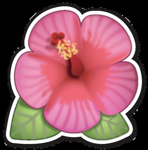 Hibiscus Forhim3 Emoji Emoji Stickers Emoji Flower