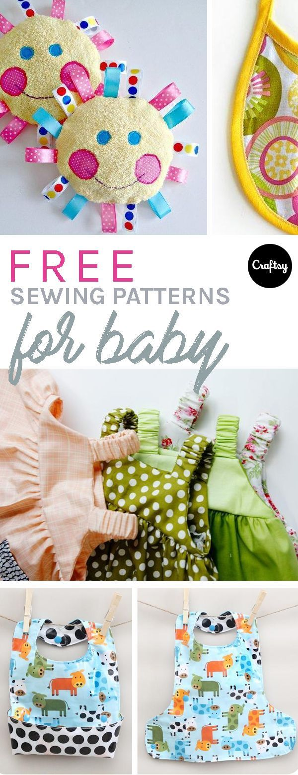 Free Baby Sewing Patterns To Make Tiny Gifts on Craftsy | Costura ...