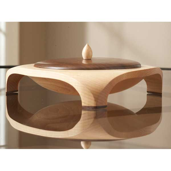Three-point Lidded Bowl Woodworking Plan from WOOD Magazine Kitchen