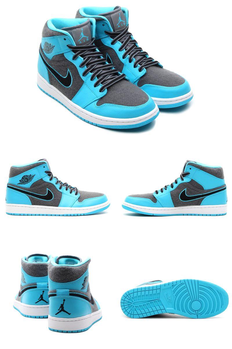 """pretty nice a728e 38e9a Air Jordan 1 Mid """"Gamma Blue"""" (Closer Look)   KicksOnFire.com"""