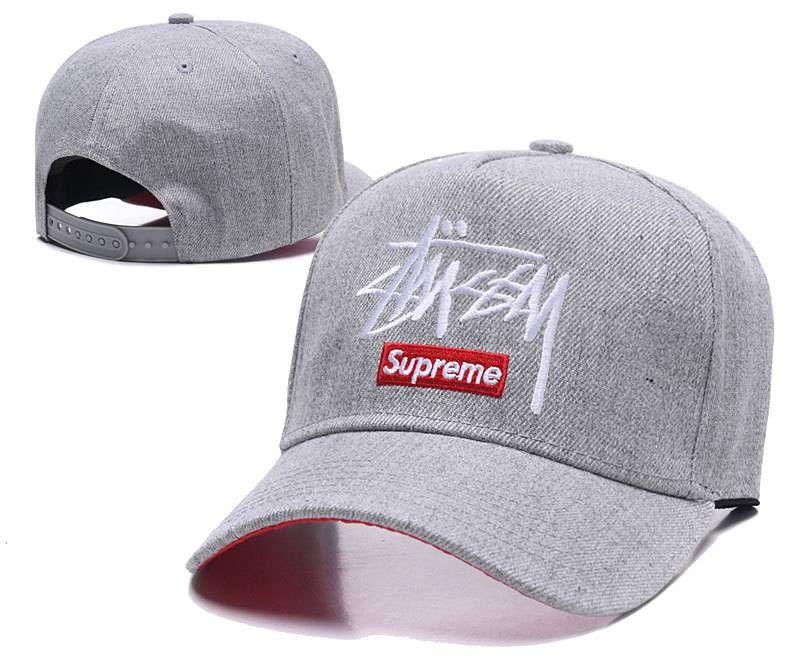 62067b595ec Stussy Supreme Baseball Caps Gray 046