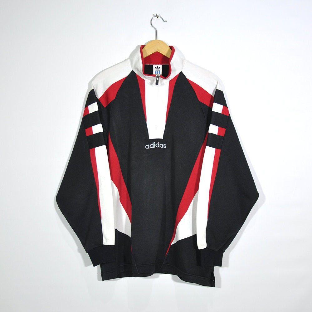 ADIDAS Vintage 90s ADIDAS Halfzip Pullover Jumper Jacket