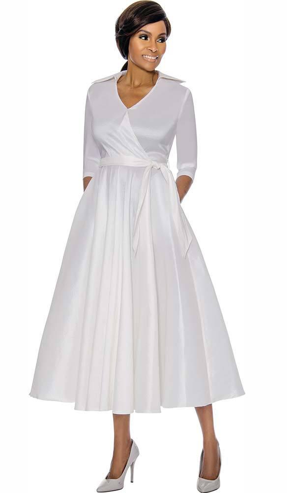 Terramina Dress 7698 White | Church dresses for women