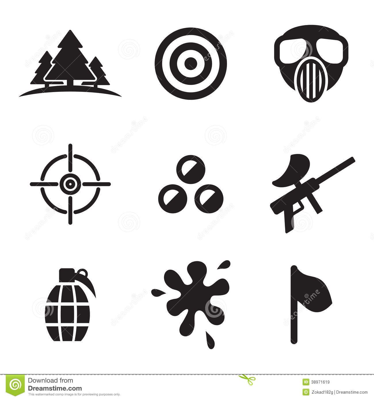 Sport For Gt Paintball Logo Vector