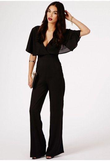 7eacc646c63 Sunita Caped Cross Back Jumpsuit - Jumpsuits   Playsuits - Clothing -  Missguided