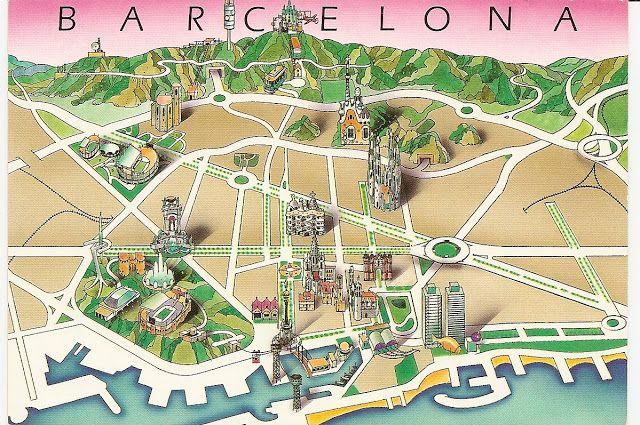 Carte Touristique De Barcelone.Barcelona Barcelona Barcelone Voyage Barcelone Et Espagne