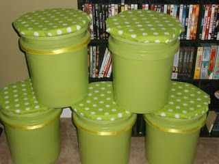 I needed more seating in my classroom around my small group table, so I saw where someone made stools out of 5 gallon paint buckets. I tweaked their idea and made my own. Here is how I made them: 1. I went to Lowes and bought 5 buckets and lids. I then went to Hobby Lobby and bought some foam and fabric. I also bought some spray adhesive and some thin pieces of round wood. 2. I spray painted my buckets green to match my theme. Then I glued the wood to the foam and wrapped my fabric aroun...