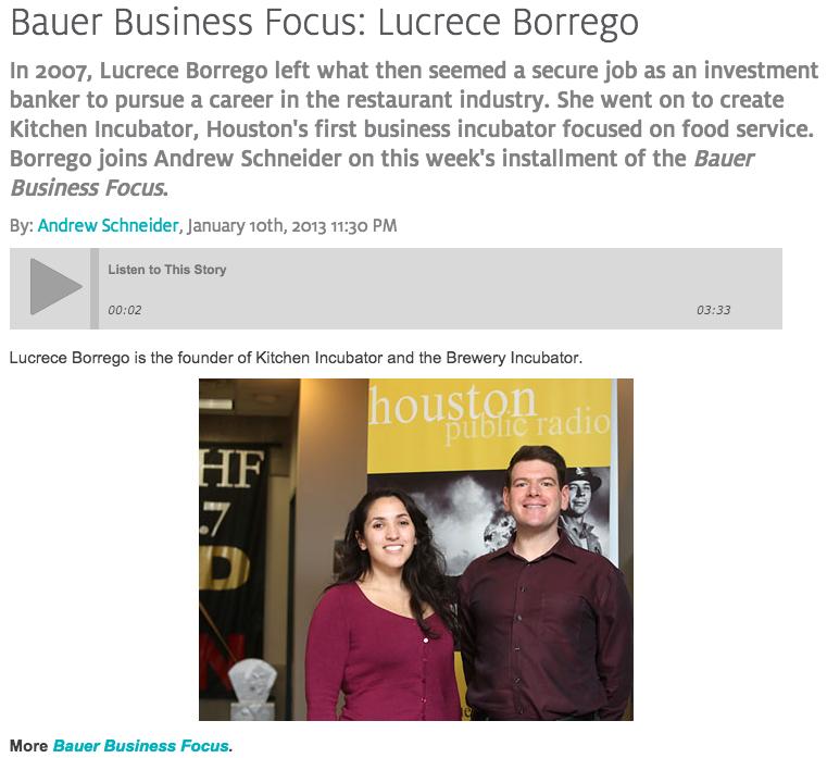 NPR Intverviews Lucrece