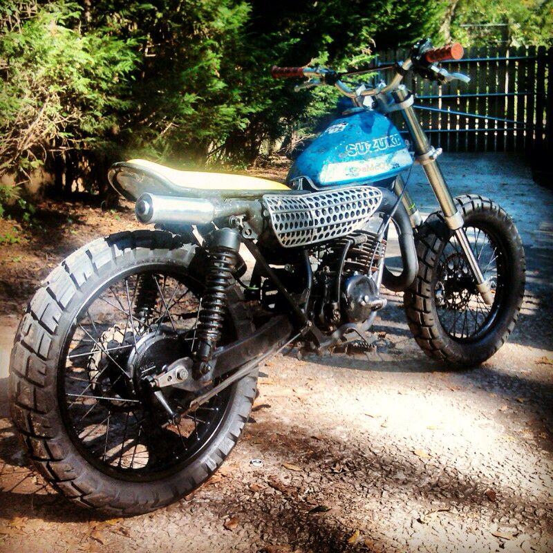 Suzuki ts185   Ts185   Suzuki bikes, Scrambler motorcycle