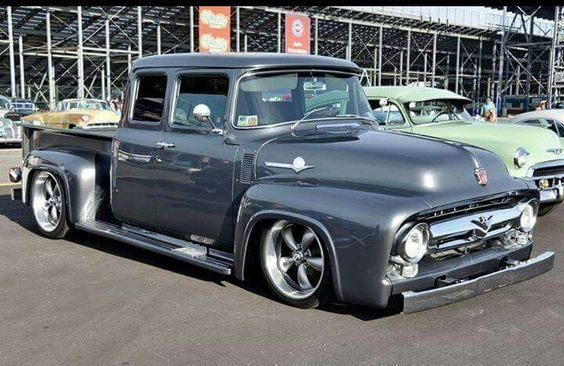 1956 Ford F100 Custom Extended Cab # Slammed # Pickup ...1956 Ford F100 Lifted