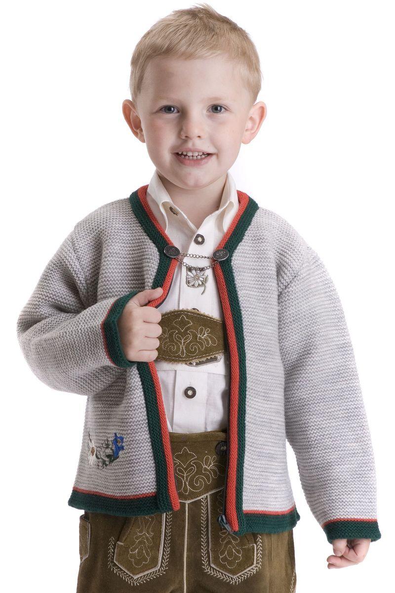 #Kinder_Trachten Jacke Leo, hellgrau ~~~ Diese angesagte ...