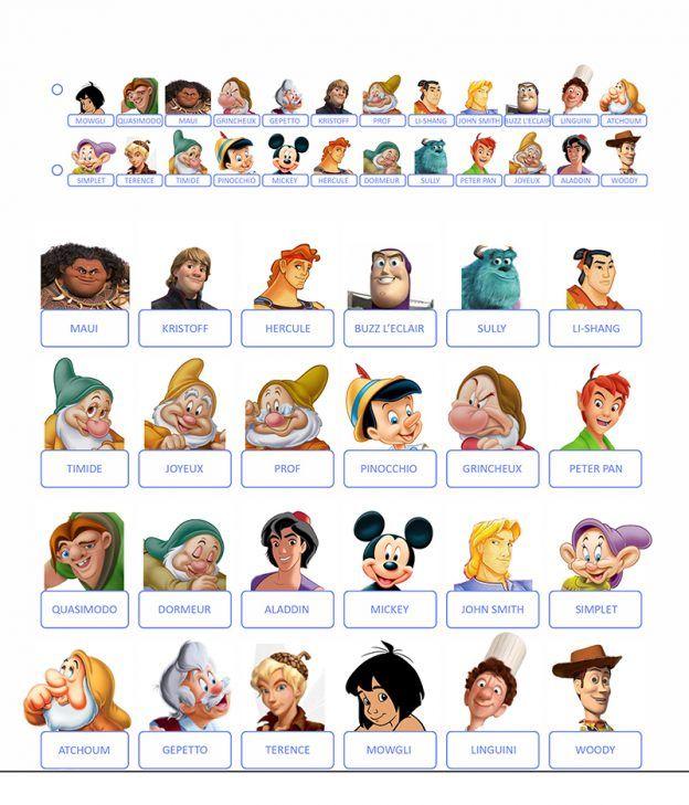 Qui est-ce à imprimer 'Princesses Disney' et 'Jeux vidéos ...